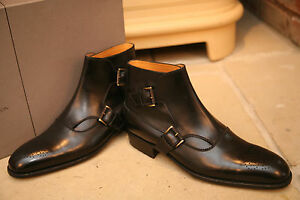 J-M-Weston-Made-To-Order-Mens-Double-Buckle-Leather-Boots-Shoes-UK-7-RRP-1200