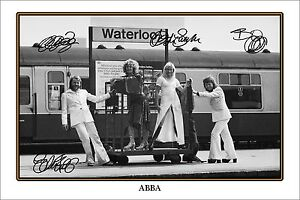 ABBA SIGNED POSTER - GREAT PIECE OF MEMORABILIA