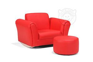 Divan fauteuil bascule et tabouret bourr rouge pour for Divan fauteuil