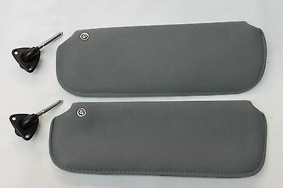 82-92 Camaro/firebird Medium Gray T-top Sun Visors Kit W/ Brackets Pair