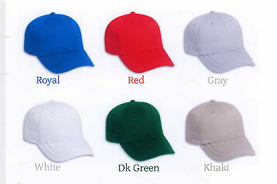 COTTON TWILL LOW PROFILE PRO STYLE BASEBALL CAP ADJUSTABLE SIZE