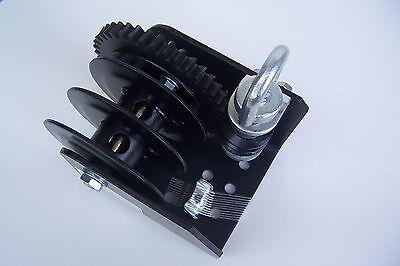 Worm Gear Split Drum Wire Rope Winch, Capacity 2000 Lb