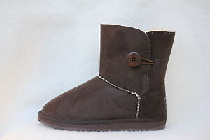 Ugg-Boots-1-Button-Synthetic-Wool-Colour-Chocolate-Size-8-Ladys