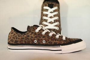 WOMENS-Converse-Chuck-Taylor-All-Star-Zipper-Black-Brown-Leopard-Lo