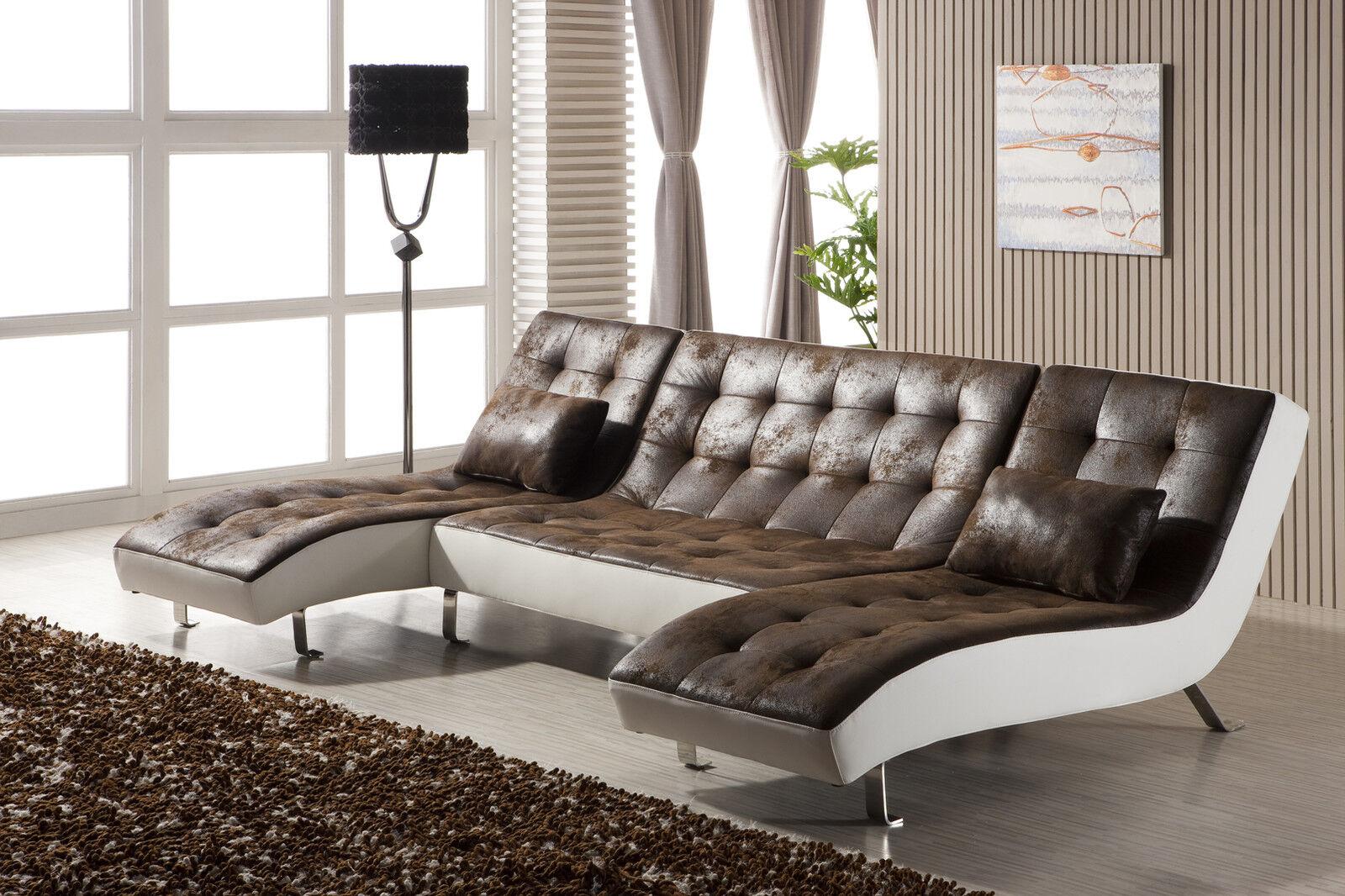 Voll leder couch sofa garnitur relaxsessel fernsehsessel for Sofa garnitur