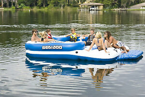 Sea-Doo-8-Person-Inflatable-Mega-Island-w-4-Speaker-Mp3-System