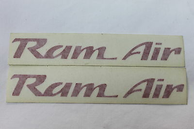 93-02 Trans Am Ws6 Ram Air Hood Decals Pair Red