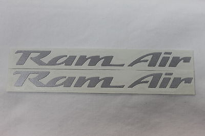 93-02 Trans Am Ws6 Ram Air Hood Decals Pair Silver