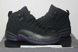 Nike-Air-Jordan-Retro-XII-12-Black-Purple-Aqua-Marine-Size-6-6Y-bred-xi-cdp-taxi