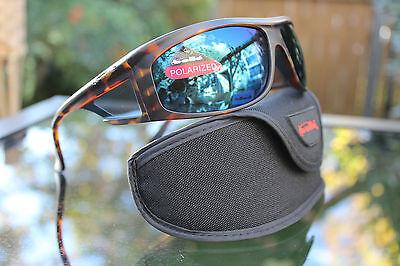 Bolle Spinner Polarized Sunglasses Tortoise/blue Marine Fishing 11060
