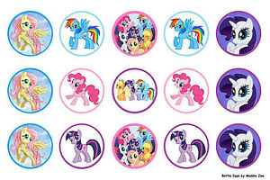 My Little Pony Edible Cup Cake Toppers x 15 (Pre Cut)