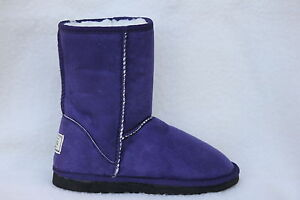 Ugg-Boots-Short-Synthetic-Wool-Colour-Purple-Size-10-Ladys