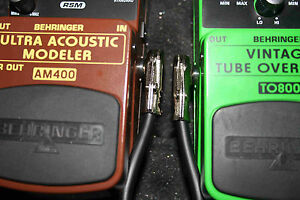 4-Patch-Pedal-Board-Effects-cable-LOW-PROFILE-Mogami-cable