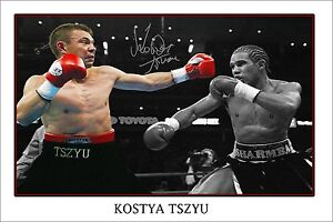 KOSTYA TSZYU  signed AUTOGRAPH POSTER PRINT. GREAT PIECE OF MEMORABILIA