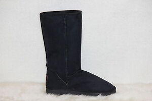 Ugg-Boots-Tall-Synthetic-Wool-Size-10-Mens-Colour-Black