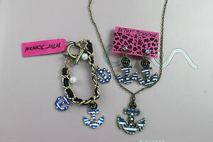 Betsey-Johnson-sailor-anchor-necklace-earrings-and-bracelet-N022-B019-E055