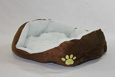 New Brown Pet Dog Puppy Cat Soft Fleece Warm Bed House Plush Cozy Nest Mat Pad on Rummage