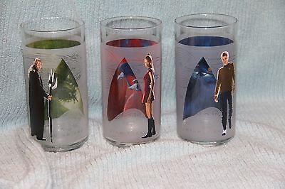 Star Trek Burger King Glasses   Set of 3