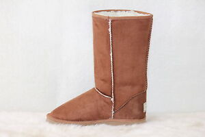 Ugg-Boots-Tall-Synthetic-Wool-Size-12-Mens-Colour-Chestnut