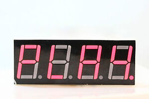 LED Display 7 Segment 4 Digit Hi Red Common Cathode - great for Arduino