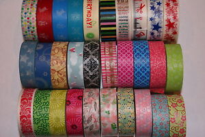 Washi-Tape-designer-15mmx10m-Roll-Decorative-Sticky-Paper-Masking-Tape-Adhesive
