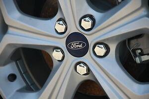 Ford Focus LW( 2013+) Fiesta WP WQ WS WT Ranger Chrome Wheel Nut Caps Covers
