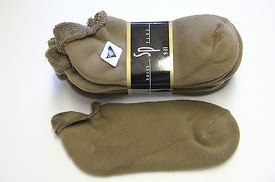 5 Pairs Stretch Low  Ankle Socks 9 11 Tan  Roll Top Mens  Womens Casual No Show