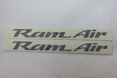 93-02 Trans Am Ws6 Ram Air Hood Decals Pair Black