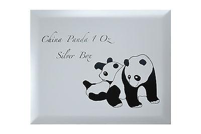 China Panda Münzbox / Box / Kassette für 40x 1 Oz Silber Münzen  / coins (Holz)
