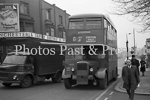 1968 Street, Morris FM Lorry, Manchester & Salford Co-op, Altrincham Bus, Photo