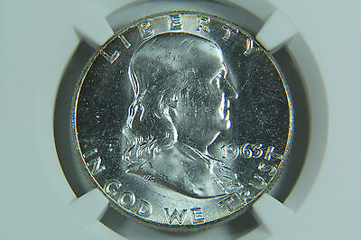 1963 FRANKLIN HALF DOLLAR NGC MS65 WHITE