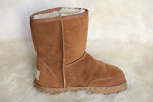 SHEEPSKIN-UGG-BOOTS-SHORT-OUTDOOR-SOLE-SIZE-7-MENS-SIZE-9-LADYS