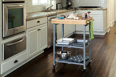Origami Butcher Block Kitchen Cart - Folding ...