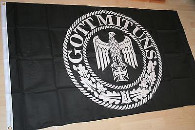 Fahne Flagge Kaiserreich Reichsadler -- Gott mit Uns --  150 x 90