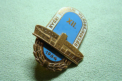 HUN Abzeichen - XII. Nyári Főiskolai Világbajnokság - Budapest 1954 - Ungarn