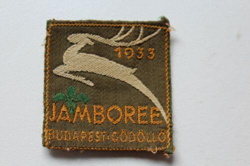 Vintage BSA Boy Scouts 1933 Jamboree Budapest Godollo Hungary Patch /T1