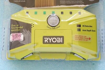 Ryobi LED Whole Stud Finder Detector Wood Mounting Nailing Drywall Metal AC Wire