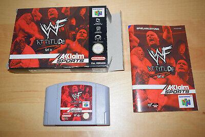 Nintendo 64 *WWF Attitude: Get it!* N64 OVP CiB mit Anleitung - aus Sammlung Rar