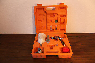 Aom 5008 Wb Mini Hvlp Paint Spray Gun Kit Water Based With Case And Accessories