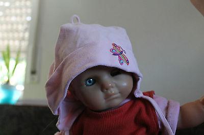 Rosa  Kappe Mütze , Kinderkleidung Mädchen Gr. 45