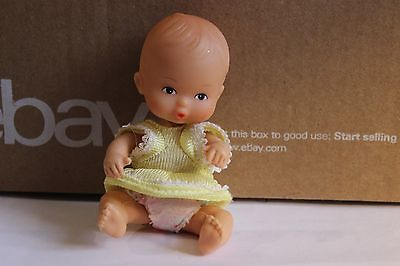 """5"""" Jointed Doll house Sized Baby Doll rubber head, plastic body pouty face CUTE for sale  Shipping to India"""