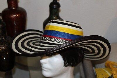 COLOMBIAN HAT~~FINO SOMBRERO VUELTIAO~~COLOMBIA, CUSTOM DESIGN S-M  OR L - Custom Sombrero