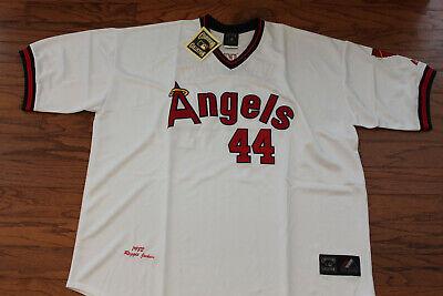 Los Angeles Angels #44 Reggie Jackson  White Home Jersey w/T