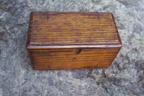 1889 Antique Singer Sewing Machine Dovetailed Oak Puzzle Box