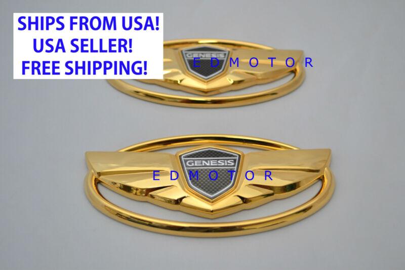 2010 2015 Hyundai Genesis Coupe Gold Wing Emblem For Ebay