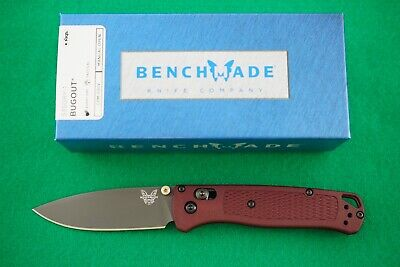 BENCHMADE 535GRY-1 BUGOUT KNIFE CPM-S30V DARK RED HANDLES PVD COATED BLADE, NEW