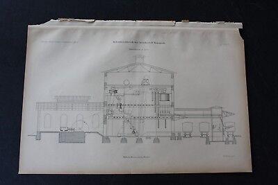 1903 Stich Bergbau / Rohsalzmahlwerk Beienrode Königslutter