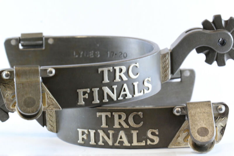 TRC Finals 2017 Open Champion Iron Rodeo Spurs trophy Team Roping Canada