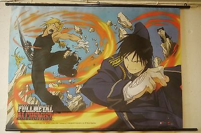 "Fullmetal Alchemist Flame v. Metal wall scroll 29"" X 41"" Fabric Wall Hang"