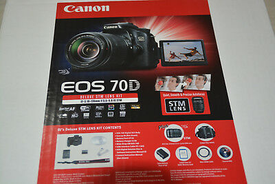 New Canon EOS 70D Digital SLR Kit w/IS STM 18-135mm Lens + Excess Bat 32GB & More